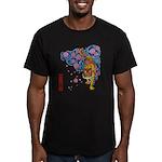 tiger cherry Men's Fitted T-Shirt (dark)