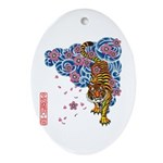 tiger cherry Ornament (Oval)