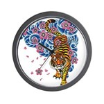 tiger cherry Wall Clock