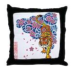 tiger cherry Throw Pillow