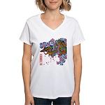 kuuma tattoo 1 Women's V-Neck T-Shirt