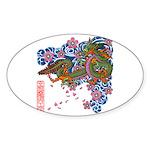 kuuma tattoo 1 Sticker (Oval)