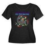 dragon Women's Plus Size Scoop Neck Dark T-Shirt