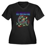 dragon Women's Plus Size V-Neck Dark T-Shirt