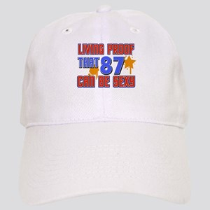 Cool 87 year old birthday design Cap