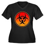 danger Women's Plus Size V-Neck Dark T-Shirt