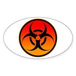 danger Sticker (Oval 10 pk)