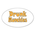 Drunk Munchies Sticker (Oval 10 pk)