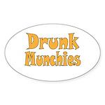 Drunk Munchies Sticker (Oval 50 pk)