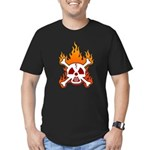 NO NUKES! Men's Fitted T-Shirt (dark)