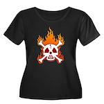NO NUKES! Women's Plus Size Scoop Neck Dark T-Shir