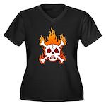 NO NUKES! Women's Plus Size V-Neck Dark T-Shirt
