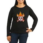 NO NUKES! Women's Long Sleeve Dark T-Shirt