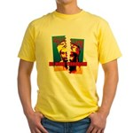 NO MORE TERRORISM Yellow T-Shirt