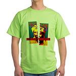 NO MORE TERRORISM Green T-Shirt