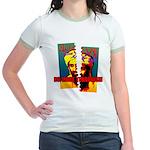 NO MORE TERRORISM Jr. Ringer T-Shirt