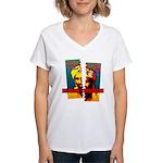 NO MORE TERRORISM Women's V-Neck T-Shirt