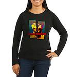 NO MORE TERRORISM Women's Long Sleeve Dark T-Shirt