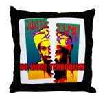 NO MORE TERRORISM Throw Pillow