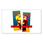 NO MORE TERRORISM Sticker (Rectangle)