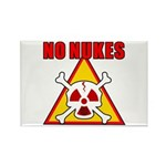 NO NUKES Rectangle Magnet