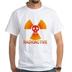 radioactive skull White T-Shirt