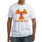 radioactive skull Fitted T-Shirt