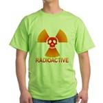 radioactive skull Green T-Shirt