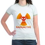 radioactive skull Jr. Ringer T-Shirt