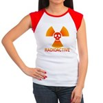 radioactive skull Women's Cap Sleeve T-Shirt