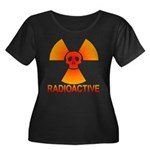 radioactive skull Women's Plus Size Scoop Neck Dar