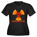 radioactive skull Women's Plus Size V-Neck Dark T-