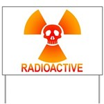 radioactive skull Yard Sign