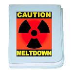 caution meltdown baby blanket