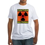 caution meltdown Fitted T-Shirt