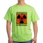 caution meltdown Green T-Shirt