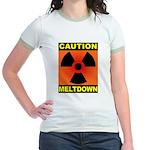 caution meltdown Jr. Ringer T-Shirt