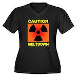 caution meltdown Women's Plus Size V-Neck Dark T-S