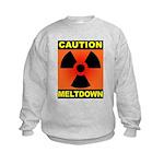 caution meltdown Kids Sweatshirt