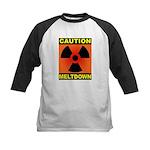 caution meltdown Kids Baseball Jersey