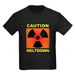 caution meltdown Kids Dark T-Shirt