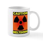 caution meltdown Mug