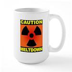 caution meltdown Large Mug