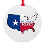 Problem Solved Flag Ornament