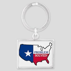Problem Solved Flag Keychains