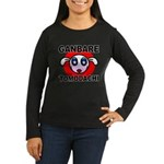 GANBARE TOMODACHI Women's Long Sleeve Dark T-Shirt