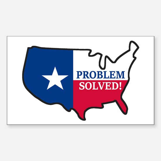 Problem Solved Flag Decal