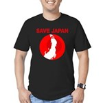 save japan Men's Fitted T-Shirt (dark)