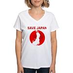 save japan Women's V-Neck T-Shirt