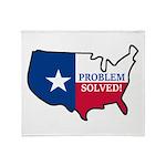 Problem Solved Flag Throw Blanket